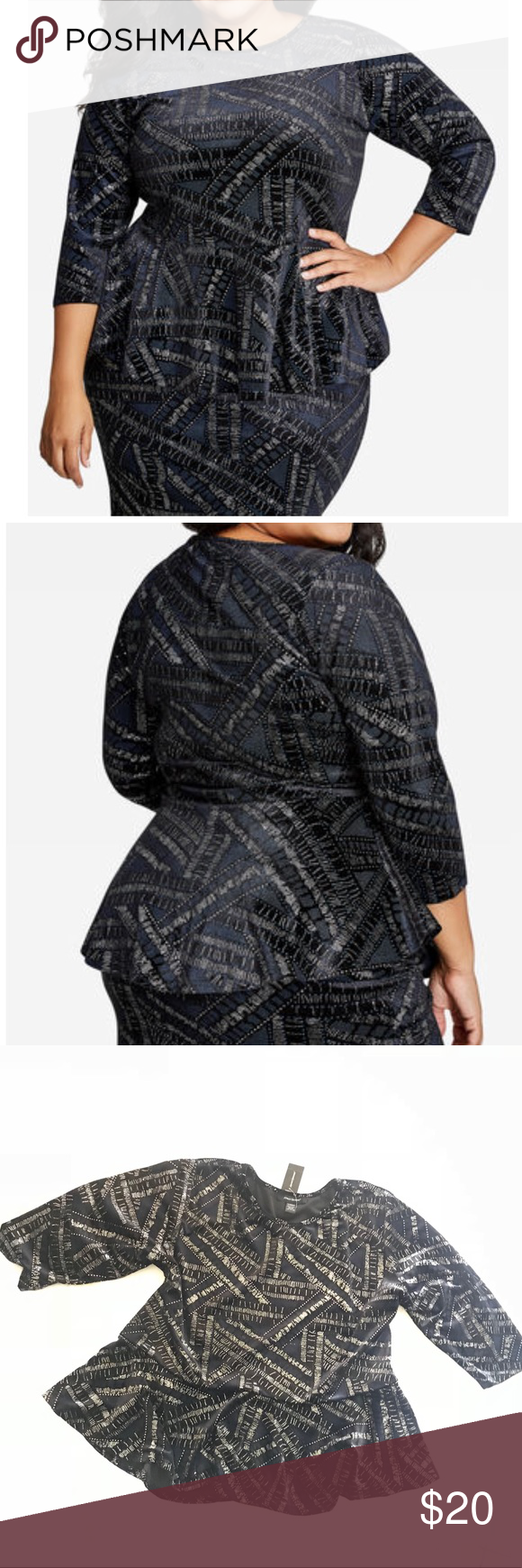 cca99445d0afe New ASHLEY STEWART VELVET GLITTER TOP Top only! Brand new with tags Ashley  Stewart top