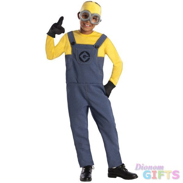 Boy's Costume: Despicable Me 2 Minion Dave-Medium