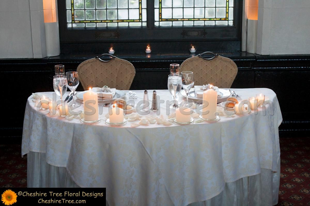 Superieur Sweetheart Table Ideas | The Bride And Groom Sat At A Sweetheart Table  Decorated With Rose