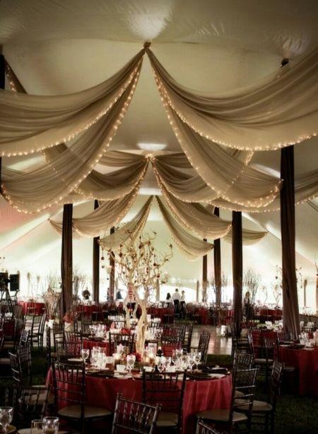 decoraciones para boda con telas decoración de salón Pinterest