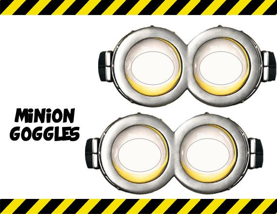 instant download despicable me minion goggles printable on etsy