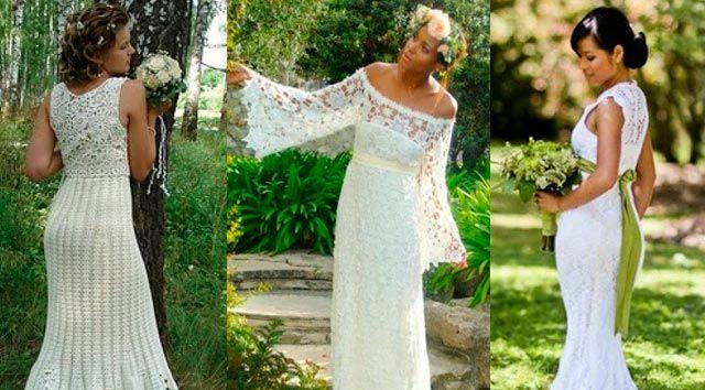 Vestidos de novia en crochet en el campo | NOIVAS | Pinterest ...