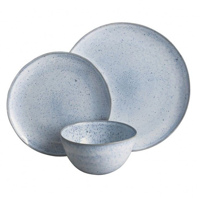 A Habitat-exclusive design the beautiful Olmo light blue speckled dinnerware has a natural organic shape with a rim in a complementary earth tone.  sc 1 st  Pinterest & OLMO LIGHT BLUE Light blue 12 piece dinner set | Dinner sets ...