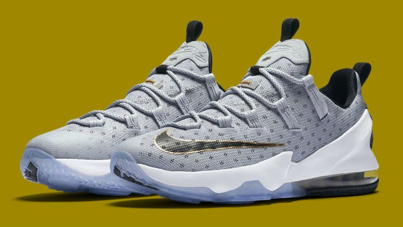 Buy Authentic Nike LeBron 13 Low Cool Grey Metallic Gold White Black  Lastest from Reliable Authentic Nike LeBron 13 Low Cool Grey Metallic Gold  White Black ...