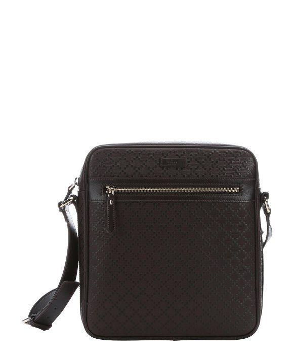 a6a8bd0810978c Gucci dark cocoa diamante leather messenger bag | Prêt-à-porter ...
