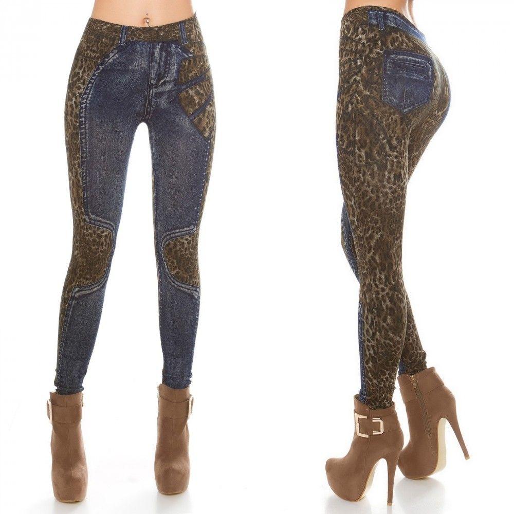 00240e6c06c1 Kék farmerhatású leggings | Női divat | Leggings