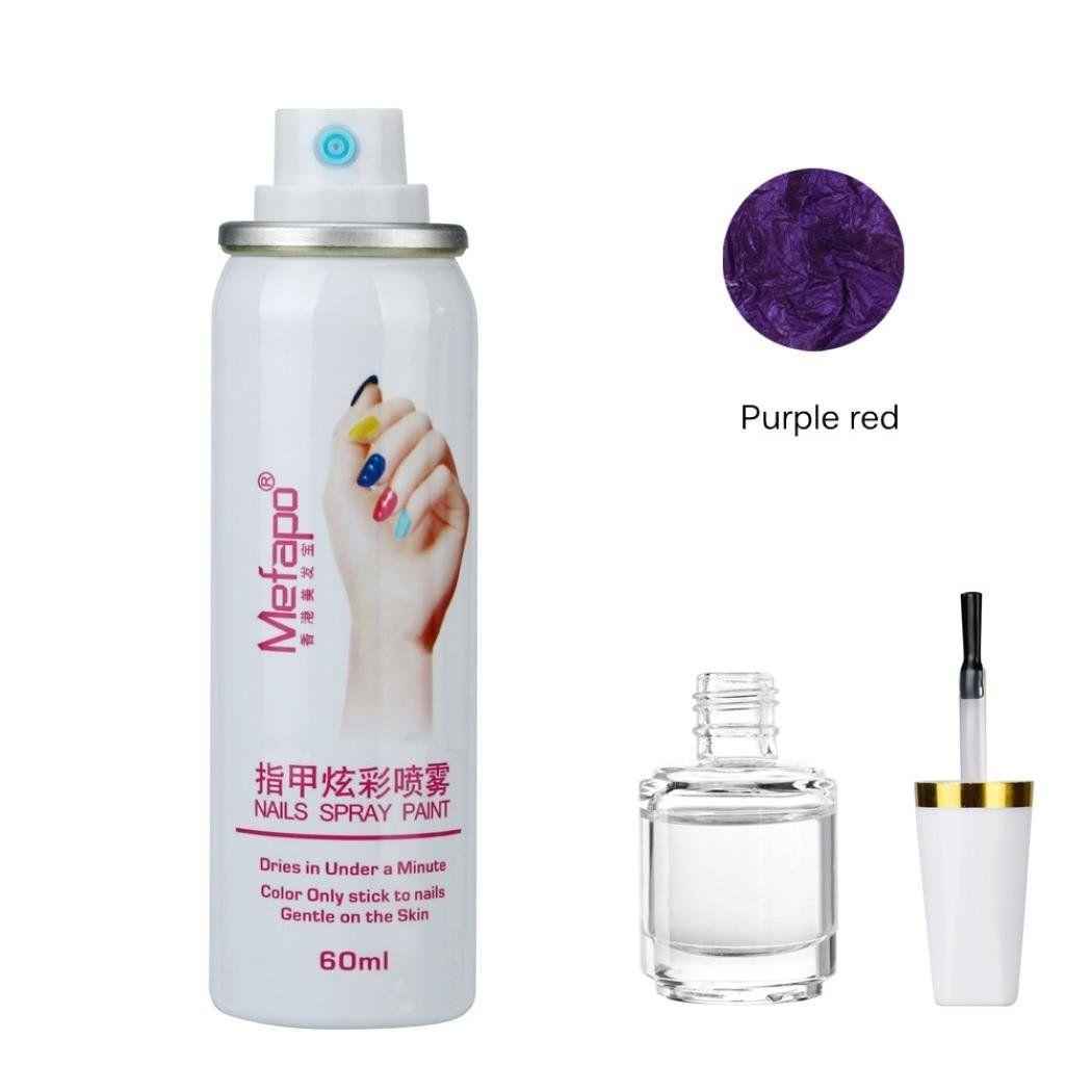 Kingfansion Quick Dry Nail polish Set Spray Foundation Layer of Nail ...