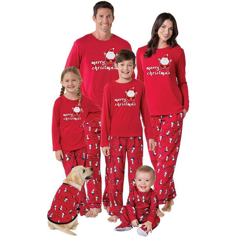 Family Matching Christmas Pajamas Long Sleeve Santa 2pcs Set Women Men Baby  Kids Deer Sleepwear Nightwear d68c9ea7d
