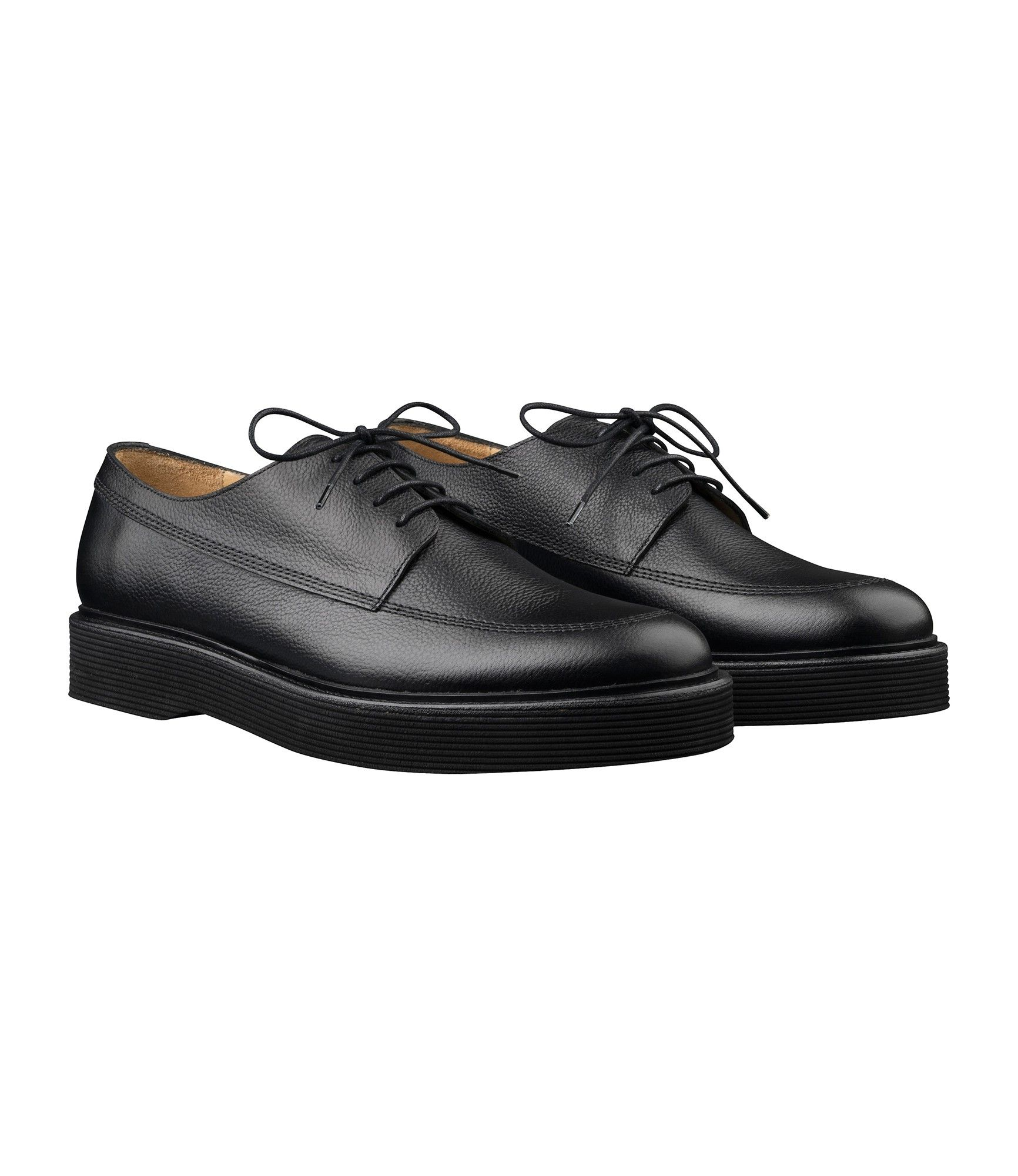 Lace Up Shoes for Men Oxfords, Derbies and Brogues On Sale, Black, Leather, 2017, 6.5 Moma
