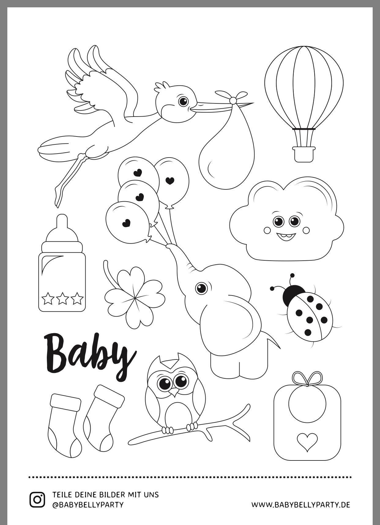 Pin von Karin Krendl auf Babyparty  Babyalbum, Baby shower spiele