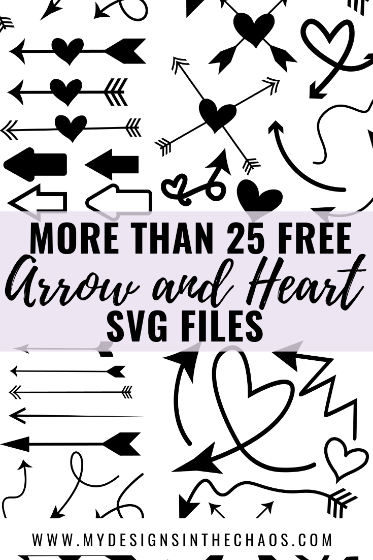 Free Arrow and Heart SVG Designs!  Perfect for a Silhouette or Cricut crafter.  Download yours today!