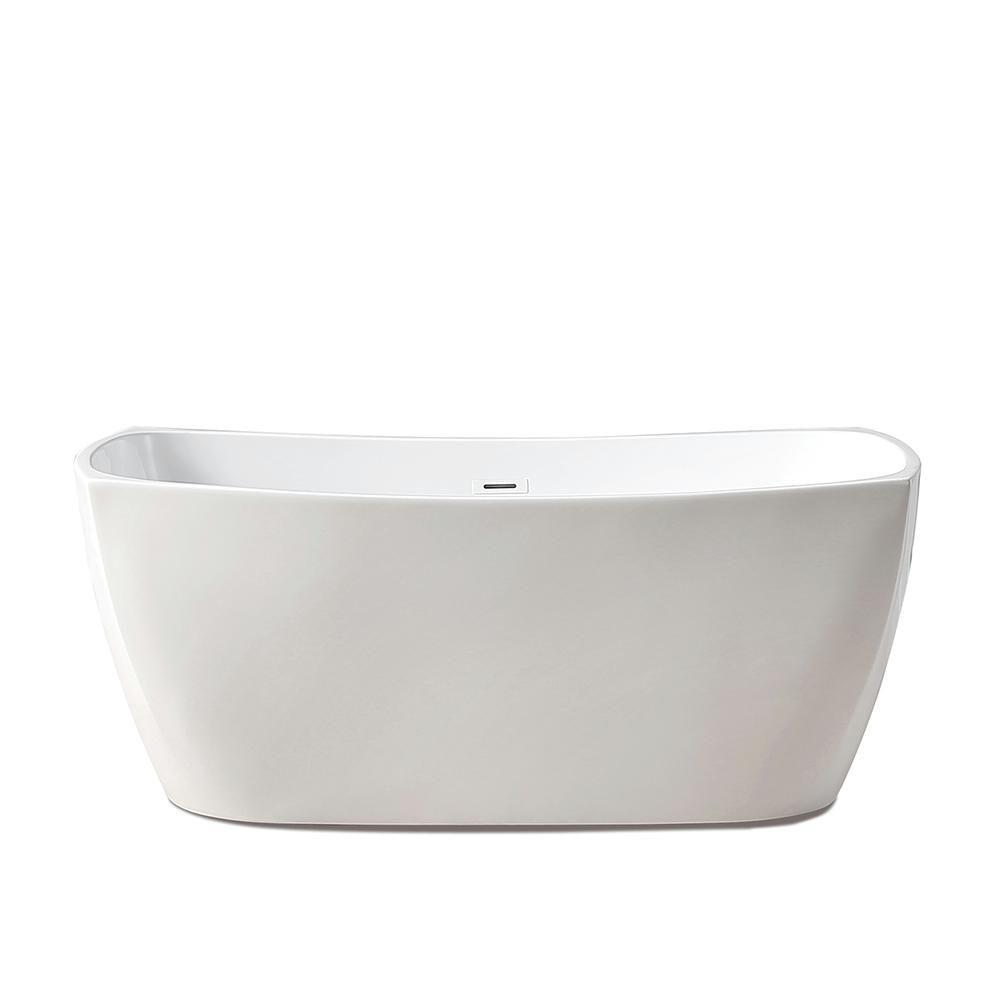 Glacier Bay Aubrey 56 In Acrylic Flatbottom Non Whirlpool Bathtub In White Gbbba012 Whirlpool Bathtub Bathtub Shower Tub