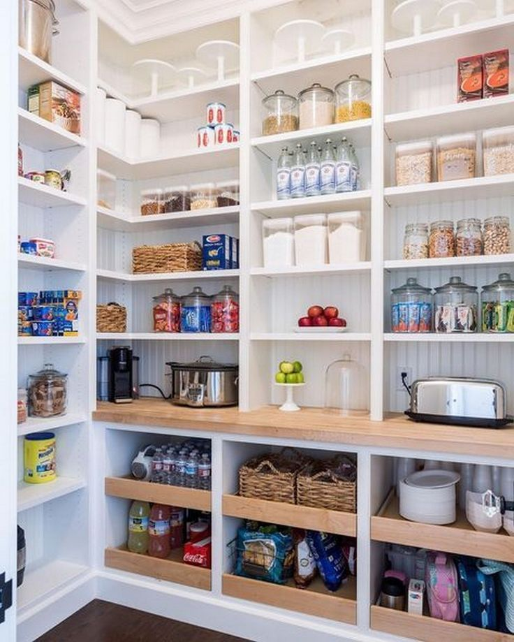 open kitchen pantry shelving design ideas | 17 Awesome Pantry Shelving Ideas to Make Your Pantry More ...