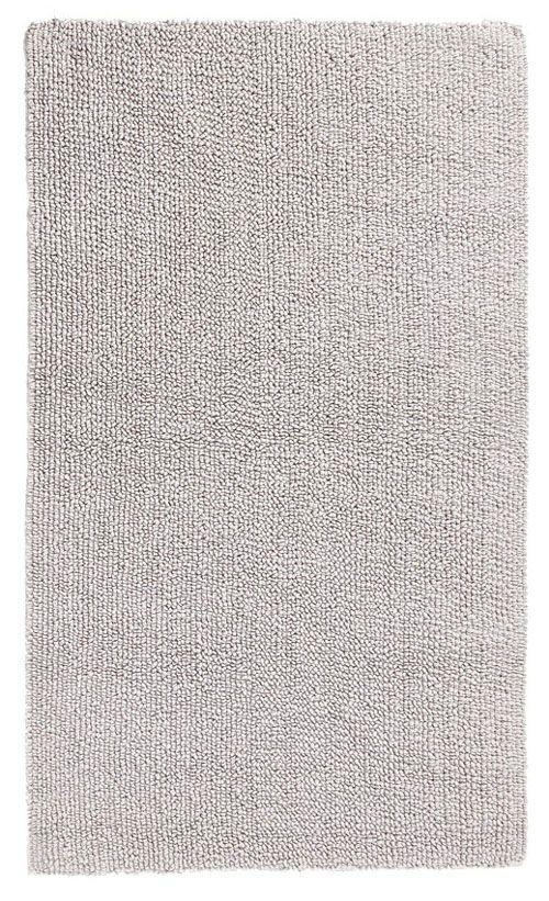 Schoner Weisser Badteppich Aus 100 Baumwolle Mit Wohnlichem Touch Beidseitig Verwendbar Hochwertige Qualitat Mit 2 100 G Qm Waschb Badteppich Teppich Silber