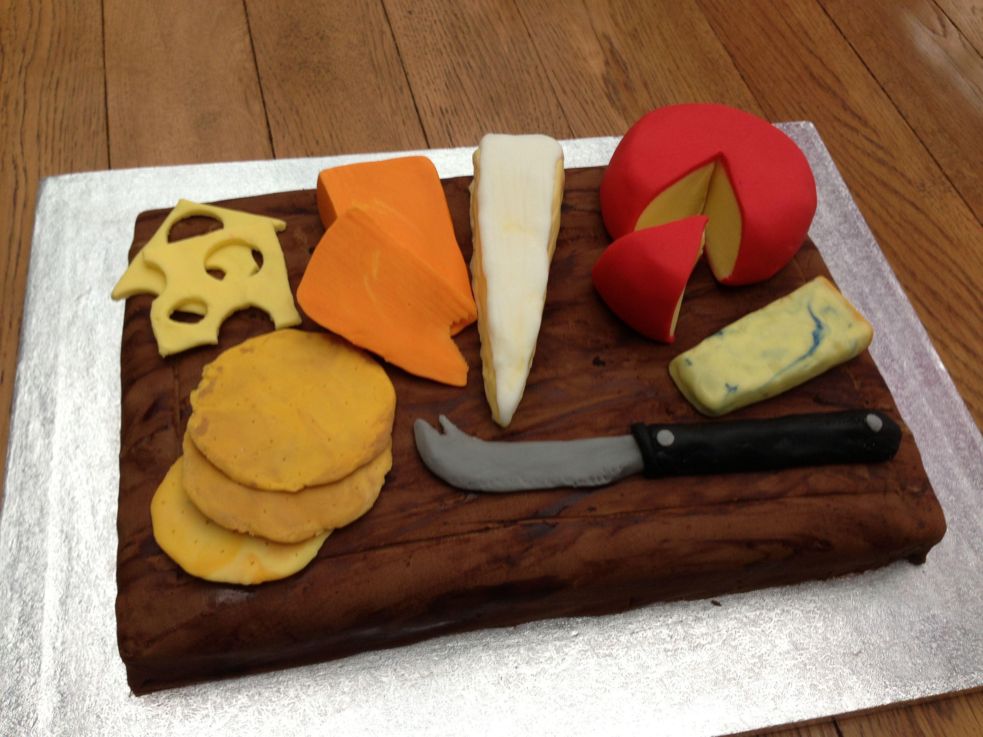Cheeseboard cake Food Pinterest