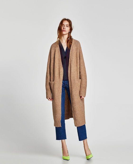 392444e833cb0b Image 1 of LONG CARDIGAN from Zara | For Me | Long cardigan, Zara ...