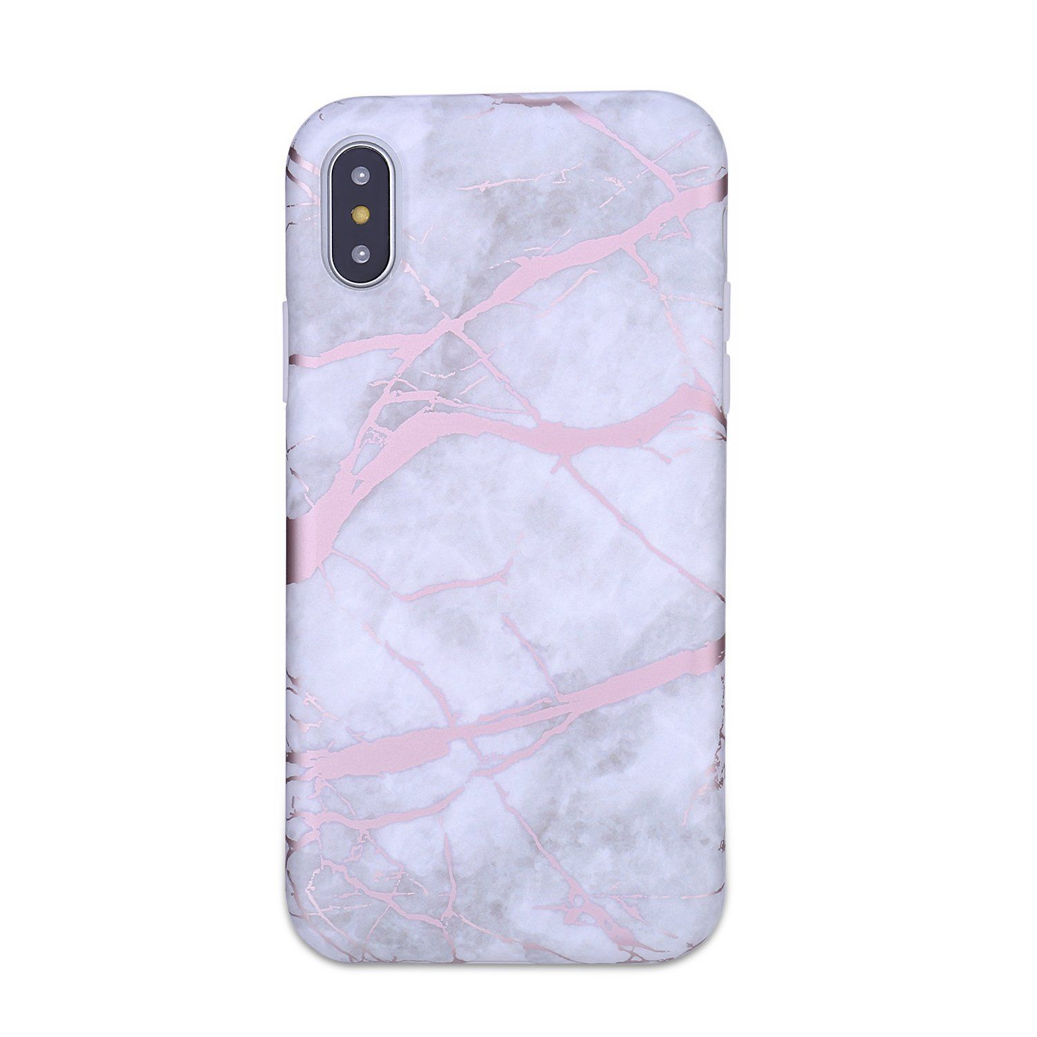 Iphone X Case Iphone X Marble Case Manleno Chrome Rose Gold Full Matte Flexible Tpu Rubber Silicone C Glitter Phone Cases Phone Cases Protective Iphone Cases