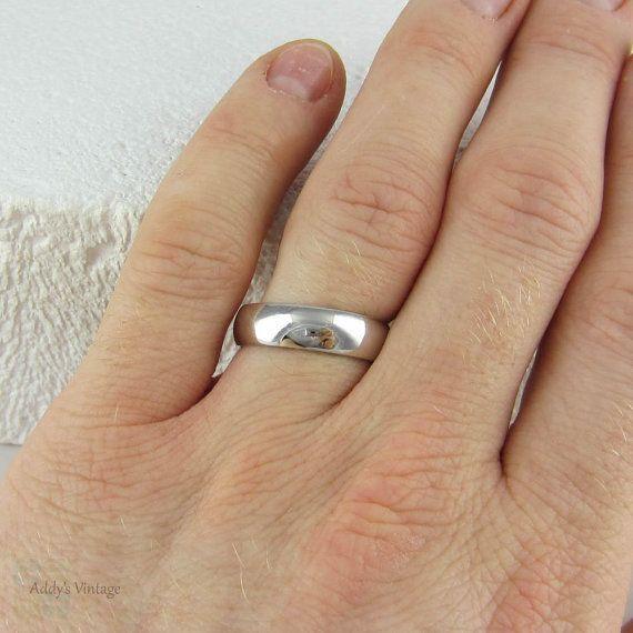Heavy Men S Platinum Wedding Ring Simple Classic Man S Platinum