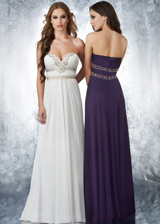 very elegant strapless dress - Shimmer by Bari Jay 59602