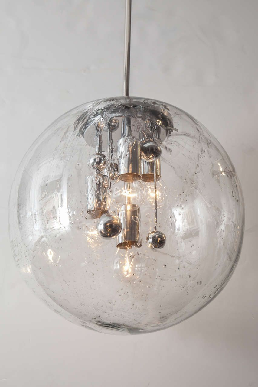 Extra Large Glass Globe Pendant By Doria 3 Available 1stdibs Com Glass Globe Pendant Glass Globe Pendant Light Globe Pendant Light