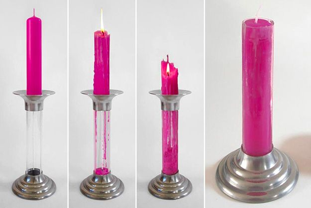 Regenerative Candle Forms New Ones As It Melts