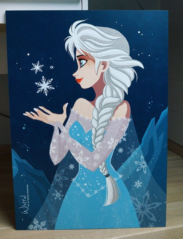 Elsa drawing by wistful art facebook frozen reine - Peinture princesse disney ...