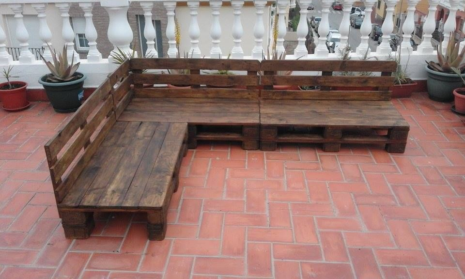 Garden Furniture Pallet pallet patio / terrace sectional furniture | pallet furniture diy