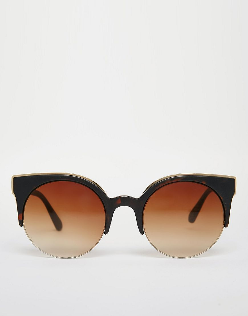 4ffbd38007d619 Image 2 of Jeepers Peepers Metal Tip Round Sunglasses