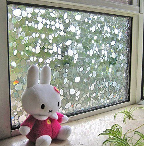Cobblestone-Home-Bedroom-Privacy-Frosted-Window-Tint-Glass-Film-Adhesive-Sticker