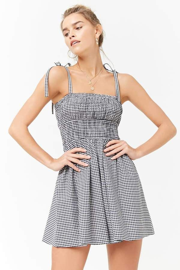 f77153566303 Fashion summer trends 2018 in the FOREVER 21 Smocked Gingham Dress ...