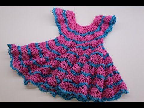 a17b455b797e Vestido Crochet para Niña de 3 a 4 años - YouTube | Háčkování na ...
