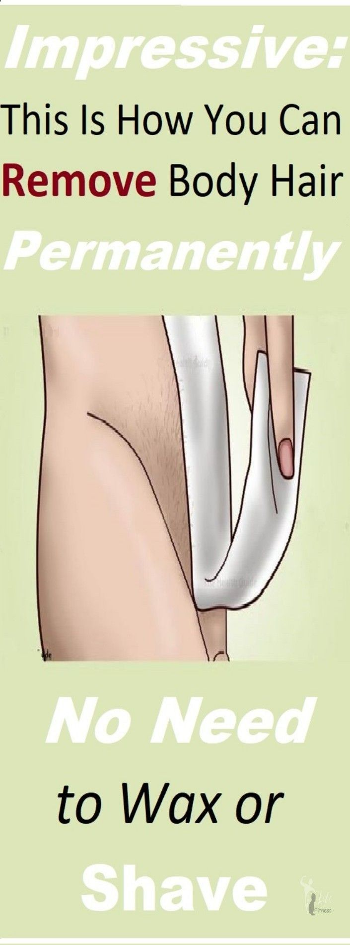 Although the most common ways to remove body hair are waxing or