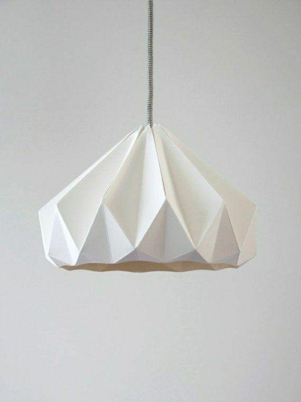 Origami Lampenschirm Anleitung Und Tolle Beispiele Leuchten