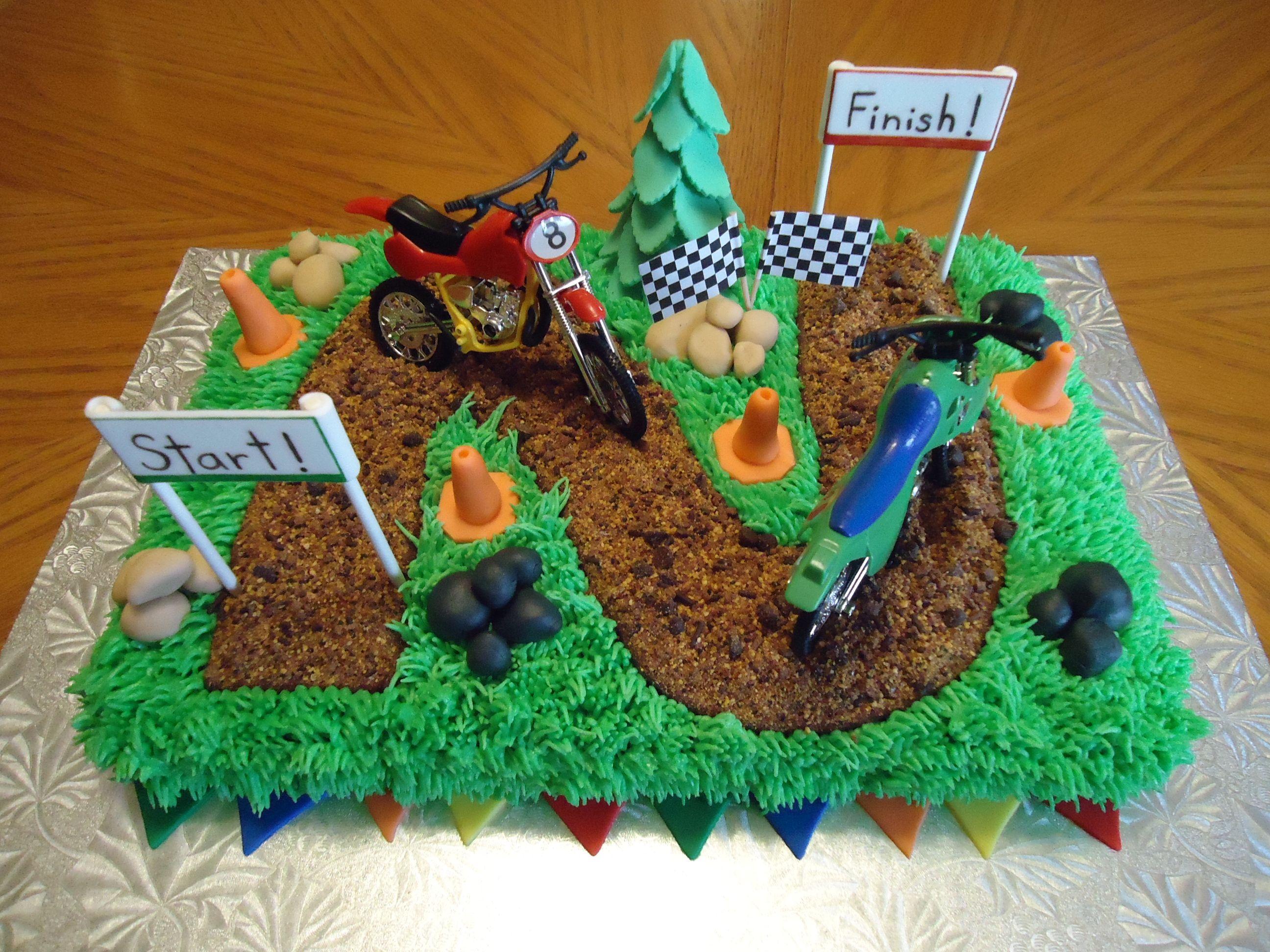 Dirt Bike Cake | Cakes-n-cupcakes | Pinterest