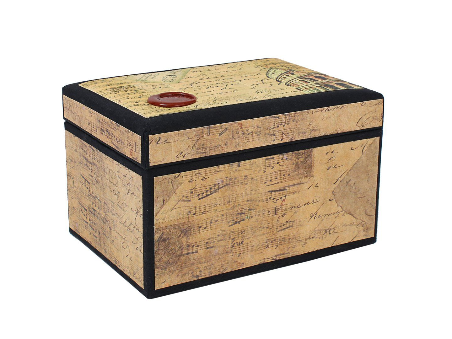 16.50 Prime Amazon.com   Attractive Hand Crafted Designer Keepsake Storage  Box With Illustrations Of