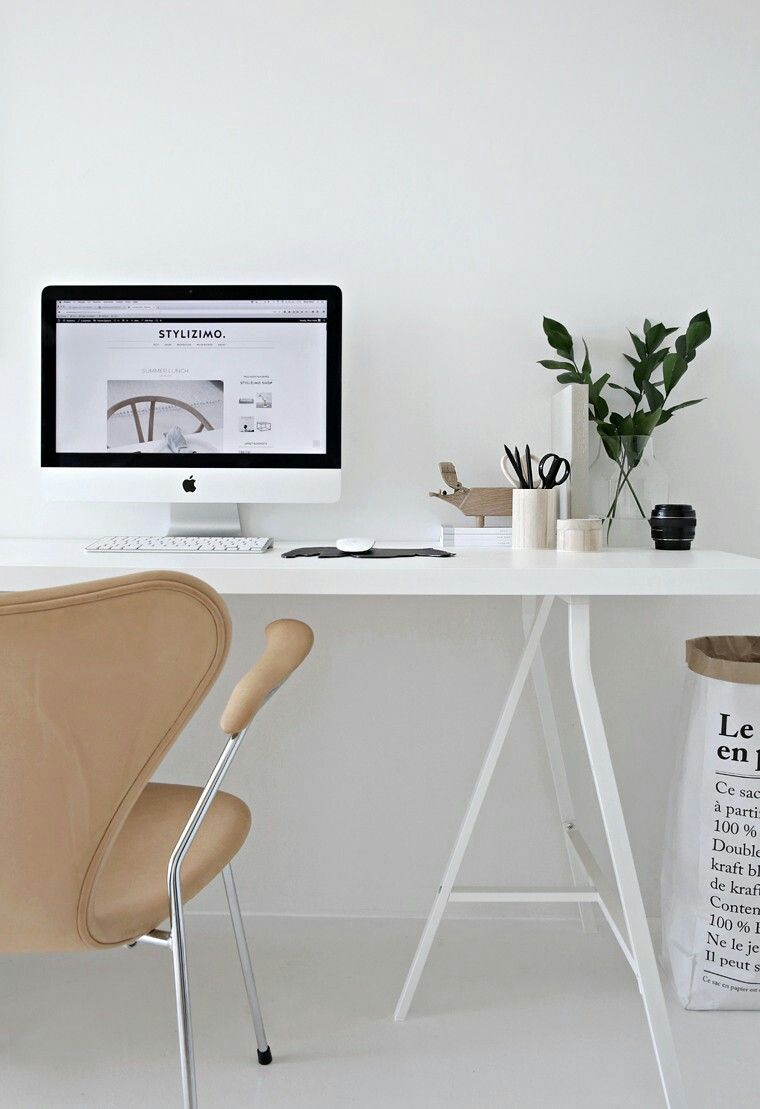 Chair, desk, simple (With images)  Home office design, Office