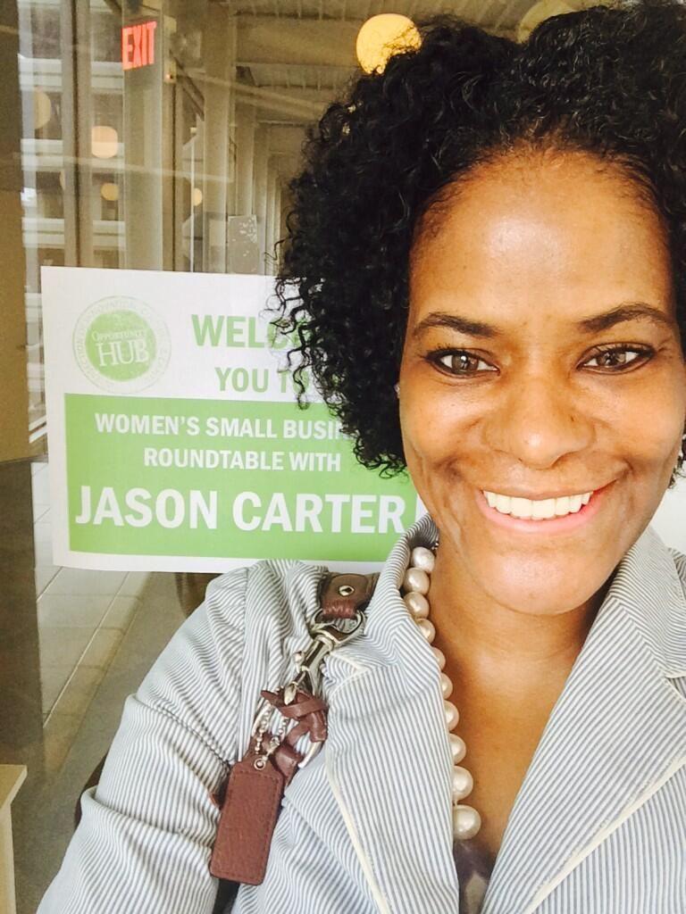 Jason Carter supporter likes Jason for the opportunities he presents for women entrepreneurs
