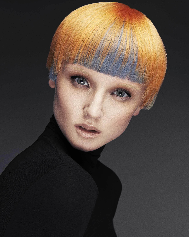 Contrast Collection Futuristic Hair Short Hair Styles Vivid Hair Color