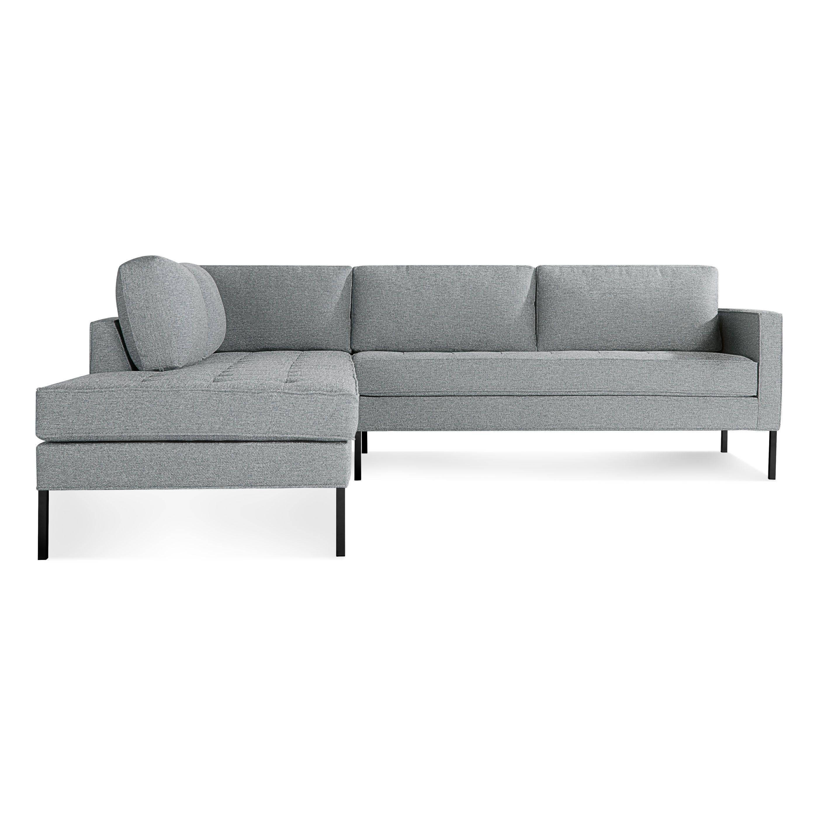 Paramount Left Sectional Sofa, Sanford Black / Metal | home ...