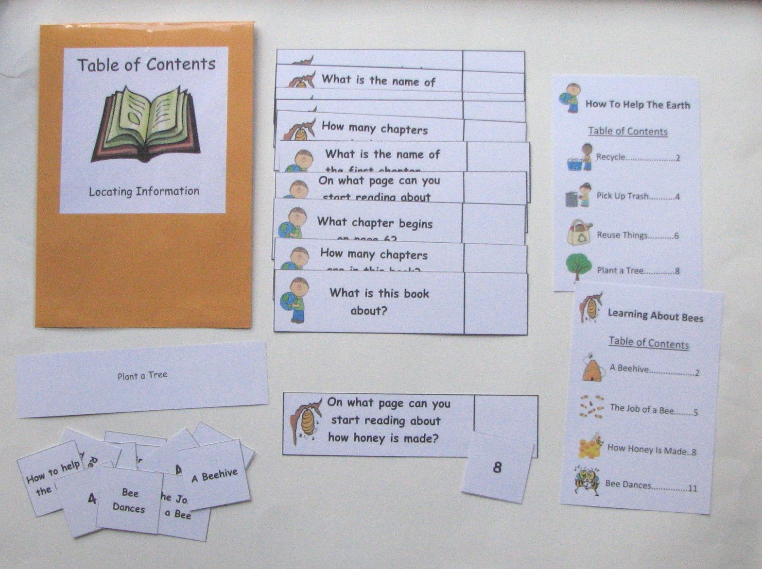 Table Of Contents Help Students Practice And Reinforce