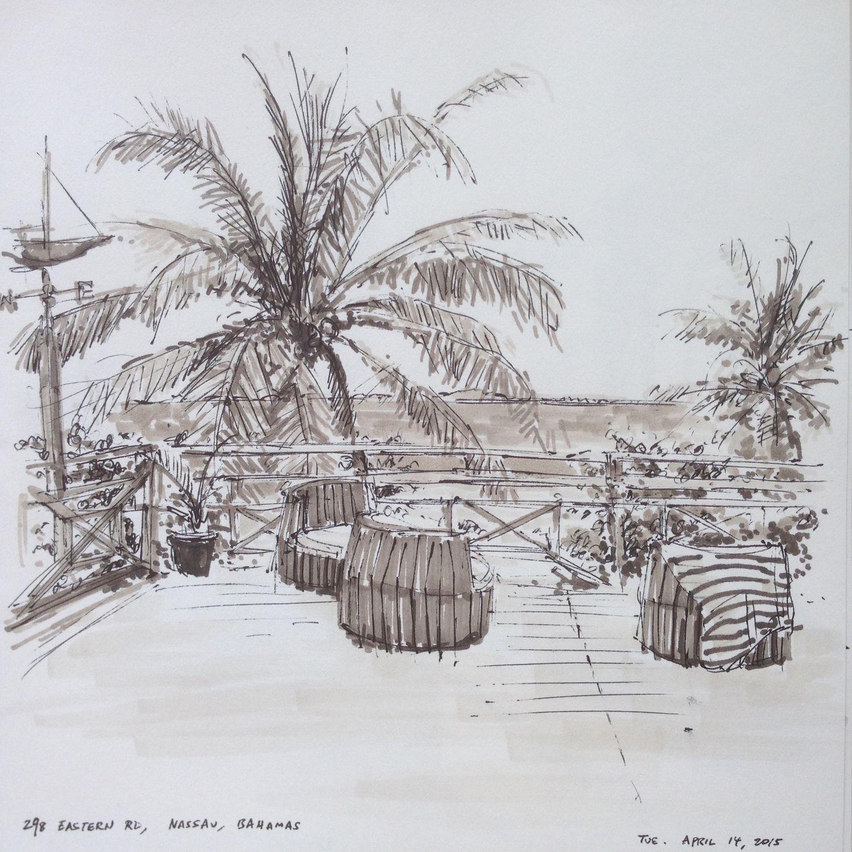Beach Palms, 298 Eastern Rd, Nassau, Bahamas, Tue April 14, 2015