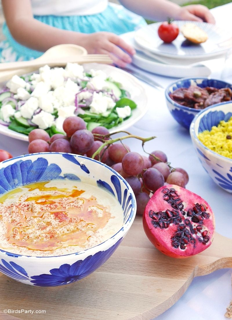 Nice Mediterranean Dinner Party Ideas Part - 13: A Mediterranean Inspired Party - Mezze Style Food, Recipes, Tablescape And  DIY Decor For An Al Fresco Summer Dinner Or Lunch!