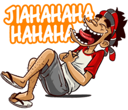 Best Funny Emoji  Coki Si Anak Kampung - Stiker LINE   LINE STORE 3