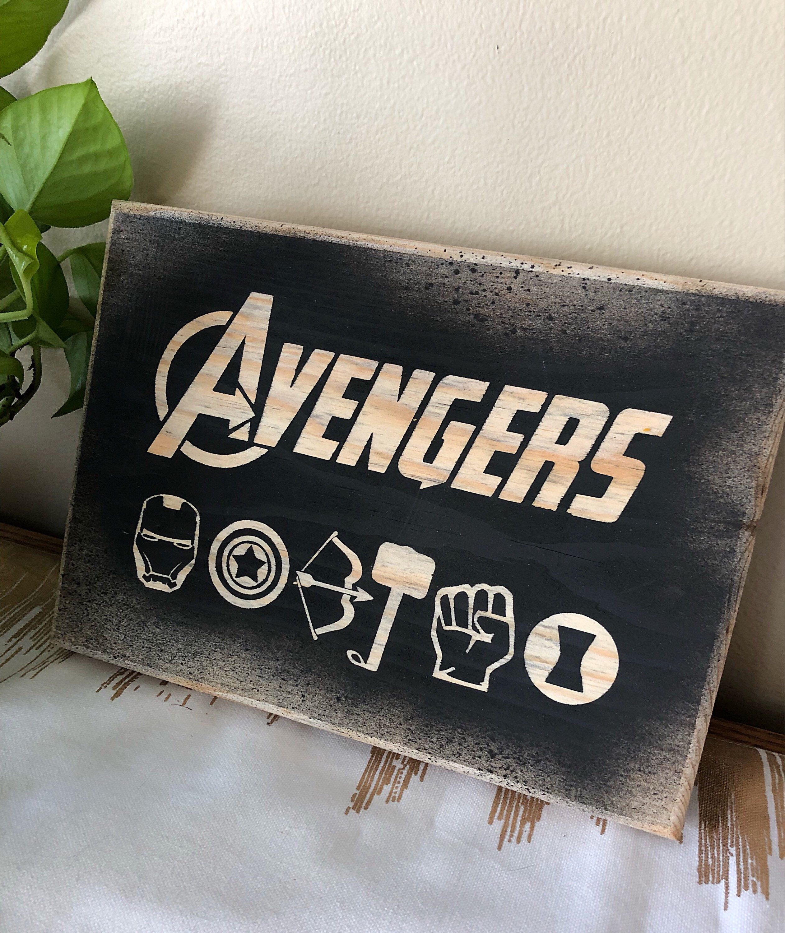 Personalized Kids Sign Kids Room Decor Marvel Avengers Personalized Wooden Name Sign Marvel Avengers Wall Sign