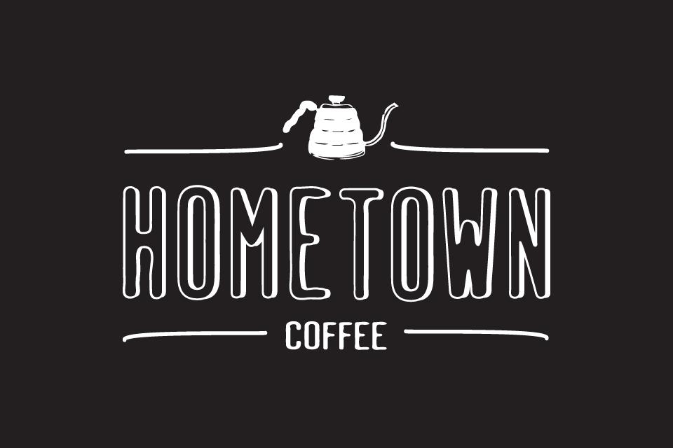 Hometown Coffee Logo design by: Nina Quax Creative Studio