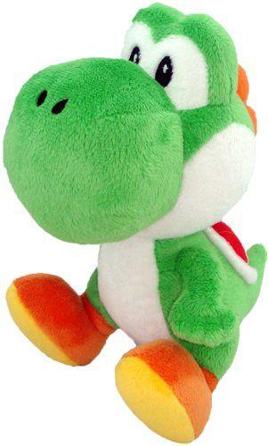 Nintendo Official Super Mario Yoshi Plush, 9.5\