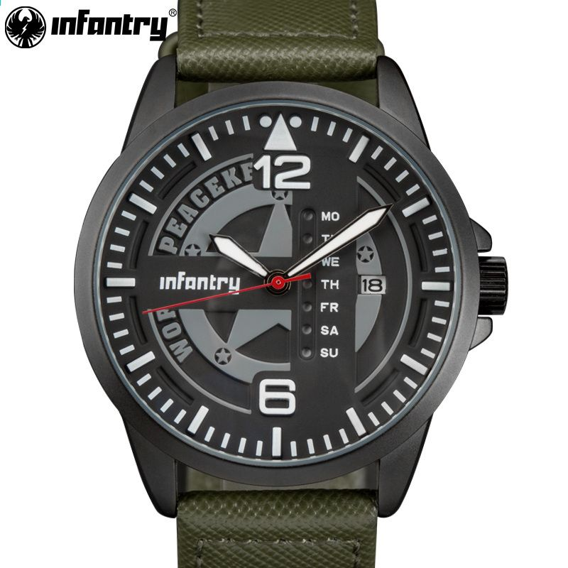 bf002797475 INFANTRY Mens Watches Top Brand Luxury Military Army Watch New Relogio  Sports Quartz Watches Luminous Hands