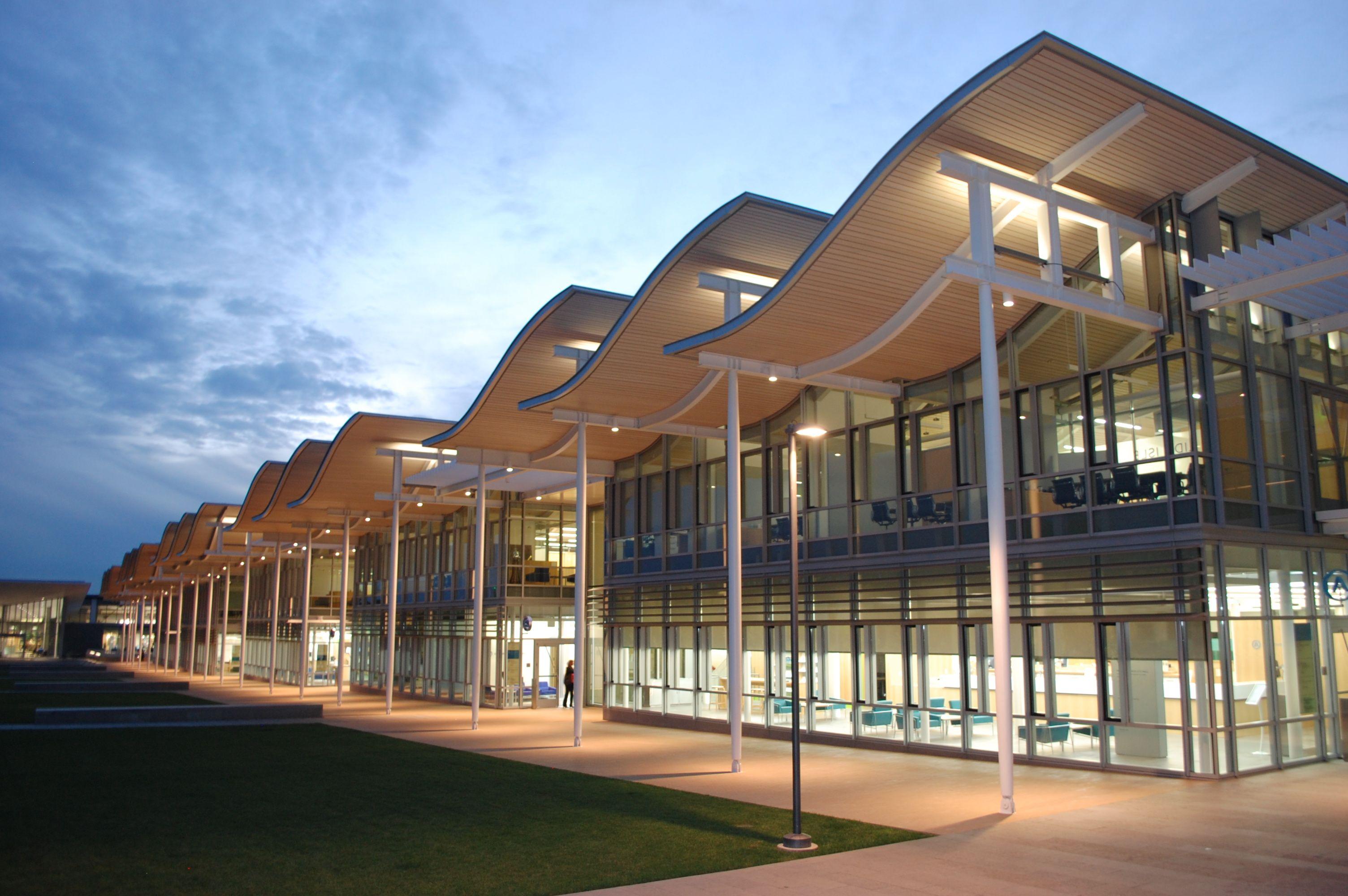 Image of external facade of the Manukau bus station arrrX Pinterest