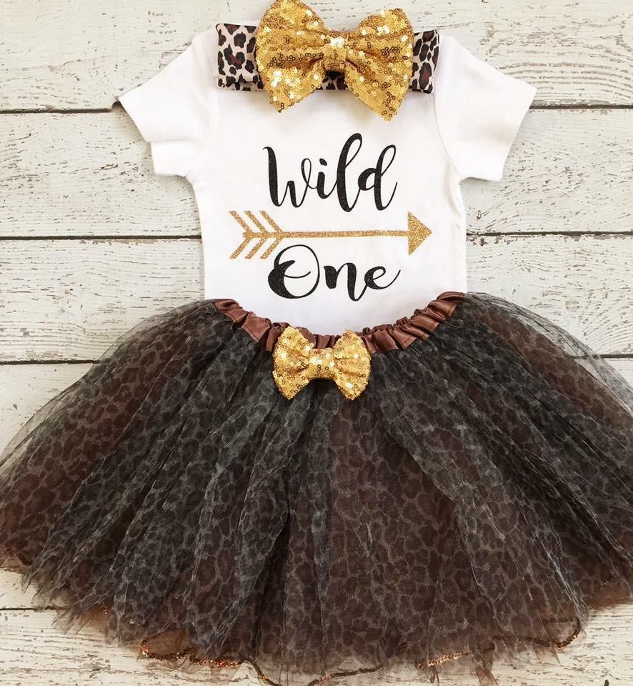 b8e91b86a Wild One First Birthday outfit -Gold and Cheetah First Birthday outfit/Safari/Jungle  Theme Birthday outfit/ Animal Print Tutu/BbayGirl Birthday outfit