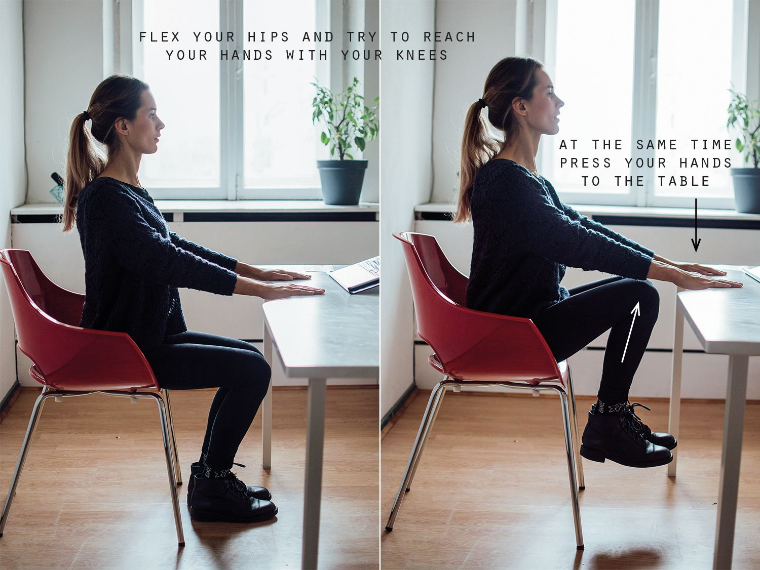 how to exercise while sitting at your desk fitness workout rh pinterest ie